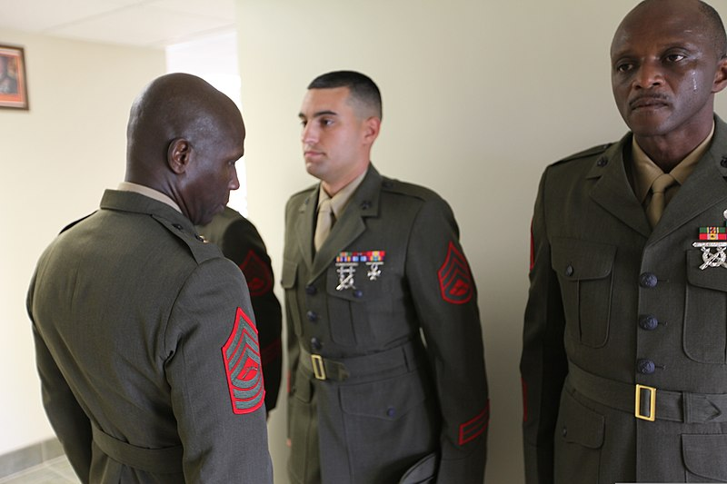 File:U. S. Marine MSgt. Donovan Baker, Personnel Chief of ...