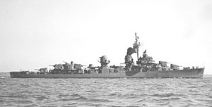 USS Caperton (DD-650) off Boston in 1943
