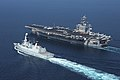 USS Dwight D. Eisenhower trains with HMS Diamond. (8167082317).jpg