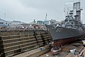 USS Fitzgerald (DDG-62) in dry dock at Yokosuka on 13 July 2016.JPG