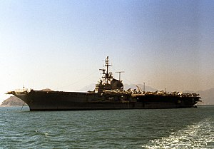 USS Midway (CVA-41) at anchor in December 1963.jpg