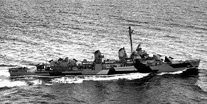 USS Rooks (DD-804) underway in Puget Sound on 16 September 1944 (BS 71430)