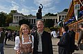 US Ambassador John B. Emerson infront of Bavaria statue in Munich, 2013.jpg