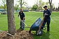 US Navy 070507-N-5324D-001 Aviation Boatswain's Mate 2nd Class Joseph Barr and Electronics Technician 1st Class Christopher Corwin of Navy Recruiting District Denver perform park restoration along with nine other Sailors.jpg