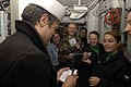 US Navy 071205-N-5484G-115 TV and film star Johnny Knoxville signs autographs for some of his fans aboard the nuclear-powered aircraft carrier USS Nimitz (CVN 68).jpg