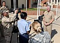 US Navy 071222-N-XXXXC-001 Chief of Naval Operations (CNO) Adm. Gary Roughead talks with members of Joint Task Force – Guantanamo (GITMO) public affairs staff.jpg