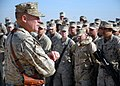 US Navy 080108-N-3857R-005 U.S. Marine Brig. Gen. J. A. Kessler, Commanding General, 2nd Marine Logistics Group (Forward), speaks at a ceremony officially opening a newly renovated runway at Camp Taqaddum.jpg