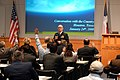 US Navy 080124-N-7275H-002 Vice Adm. John G. Morgan Jr., deputy Chief of Naval Operations for Information, Plans and Strategy, takes a question from Houston-area business and civic leaders during a.jpg