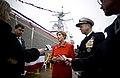 US Navy 080126-N-0696M-216 Mrs. Deborah Mullen, ships sponsor for the precommissioning unit Dewey (DDG 105).jpg