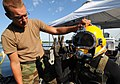 US Navy 080813-N-8933S-140 Navy Diver 2nd Class Todd Walsh gives the okay to Navy Diver 3rd Class Levi Hughes.jpg