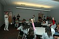 US Navy 081023-M-1529O-006 Cmdr. Mark Behning teaches young students of the Mexican American Engineers and Scientist (MAES) about the capabilities of a U.S. Navy submarine.jpg
