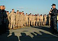 US Navy 081219-N-9134V-195 Master Chief Petty Officer of the Navy (MCPON) Rick West talks to Sailors and Marines.jpg