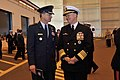 US Navy 090219-N-8273J-238 Chief of Naval Operations Adm. Gary Roughead speaks with Gen. Kevin P. Chilton at the conclusion of 1000th Trident Patrol Commemoration Ceremony.jpg