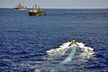 US Navy 090425-N-4124C-006 A rigid-hulled inflatable boat (RHIB) from the guided-missile destroyer USS Forrest Sherman (DDG 98) heads to a Colombian National Navy ship for a passenger transfer during UNITAS Gold.jpg