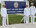 US Navy 090430-N-6092D-091 Commanders stand together during a ceremony at Naval Support Facility Dahlgren to establish the Navy Air And Missile Defense Command.jpg
