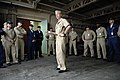 US Navy 090706-N-9818V-384 Master Chief Petty Officer of the Navy (MCPON) Rick West speaks with chief petty officers at U.S. Naval Ship Repair Facility, Yokosuka during his visit to Commander Fleet Activities Yokosuka, Japan.jpg