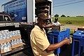 US Navy 100505-N-5862D-008 Roy Barton, a retired Army Sgt. 1st Class, buys food, as well as health and comfort items to donate to flood victims at Naval Support Activity Mid-South.jpg