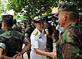 US Navy 100514-N-8377A-400 Rear Adm. Nora Tyson thanks Royal Thai Marines who worked with Seabees in building a classroom for the children of Ban Klong Kam Primary School.jpg