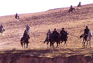 Fall of Mazar-i-Sharif - Image: US Special Forces on horseback, Afghanistan, 2001