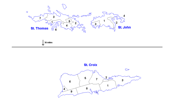 United States Virgin Islands Wikipedia - Map of the postal abreviations for the us