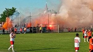 """Stadionul Motorul (Arad) - Image: UTA Arad Ultras, """"Motorul"""" stadium 2015"""