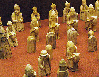 Lewis chessmen - Image: Uig Chessmen Selection Of Pieces