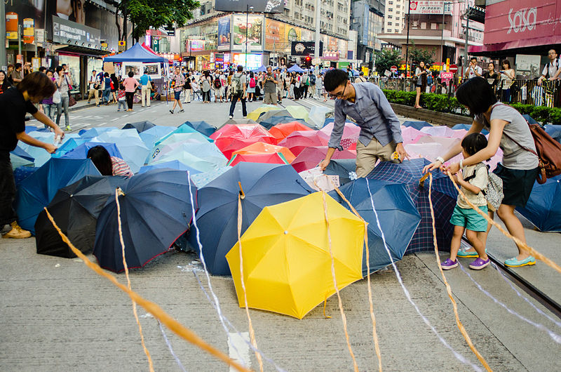 File:Umbrella Revolution Umbrella in Causeway Bay 20141011.jpg