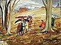 Umbrellas and Children by Sylvia Lefkovitz.jpg