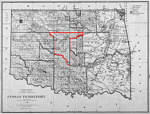 Unassigned Lands - Map of the Unassigned Lands—1885
