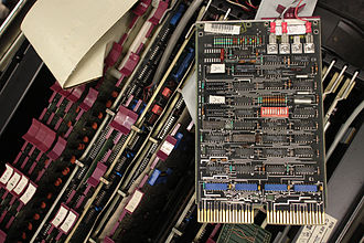 Electrical termination - Unibus terminator/bootstrap card from a PDP-11/34.