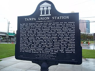 Tampa Union Station - Historic plaque