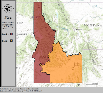 Idaho39s Congressional Districts  Wikipedia