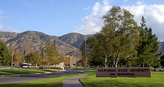 California State University, San Bernardino - Entrance along University Parkway.