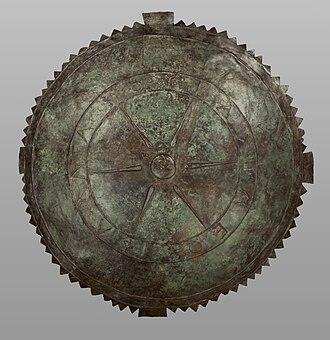 Kingdom of Pontus - Bronze shield in the name of King Pharnakes, Getty Villa (80.AC.60)