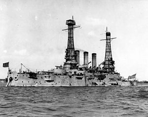 Ohio at anchor