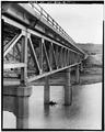 VIEW LOOKING NORTHWEST ALONG SOUTH FACE - Powder River Bridge, U.S. Highway 14-16, Arvada, Sheridan County, WY HAER WYO,17-ARVA.V,1-2.tif