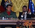VII Encuentro Presidencial Ecuador-Venezuela. Entrega de créditos no reembolsables, suscripción de convenios y rueda de prensa (4465740947).jpg