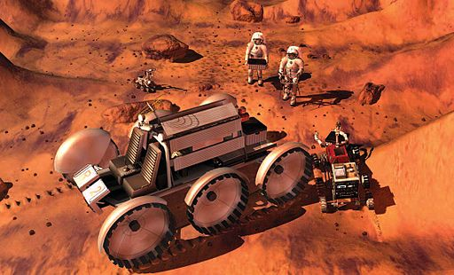 VSE Mars astronauts with rover