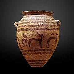 Vase with gazelles-E 28023