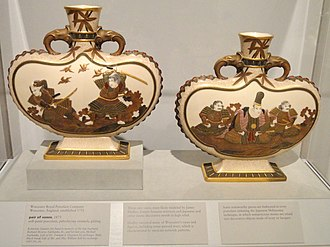 "Royal Worcester - Pair of ""japonist"" vases, 1873 (Indianapolis Museum of Art)"
