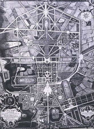 André Le Nôtre - Plan view of the gardens of Versailles