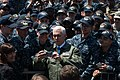 Vice President poses for a selfie with Sailors on the flight deck of USS Ronald Reagan. (34098911606).jpg