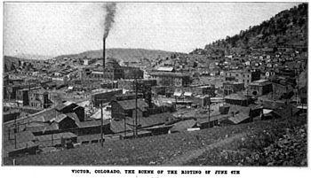 Victor colorado scene of rioting.jpg