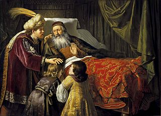 Jacob blessing the sons of Joseph