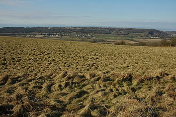 English: View across Gordano Valley View acros...