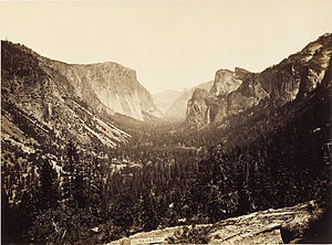 Carleton Watkins - Yosemite Valley, View from Inspiration Point, 1879, in the Princeton University Art Museum