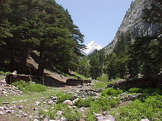 Falak Sar (Swat) - View of Falak sar from mahudand lake