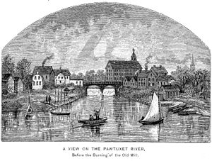 Pawtuxet River - Pawtuxet River, 1886 engraving.