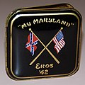 "Vintage Photo Frame, Measures 3 x 3 Inches, Inscribed ""My Maryland"" And "" Eros '42"" (16456600196).jpg"