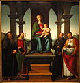 Virgin and Child with Saints, Pietro Vannucci (Perugino) and workshop, about 1500, oil and tempera on panel - Hood Museum of Art - DSC09091.JPG